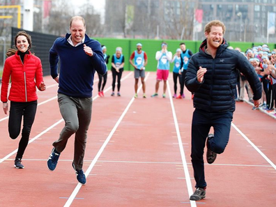 Prince William and Kate Middleton post photo of race with Prince Harry for birthday on 15 September.