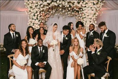 The official wedding party including supermodel and VS model Jourdan Dunn