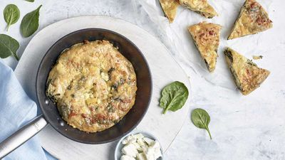 "Recipe: <a href=""http://kitchen.nine.com.au/2017/09/12/21/07/anna-polyvious-spanakopita-greek-spinach-pie"" target=""_top"">Anna Polyviou's classic spanakopita</a>"