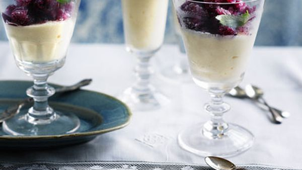 Shane Osborn: Fromage frais mousse with red wine granita