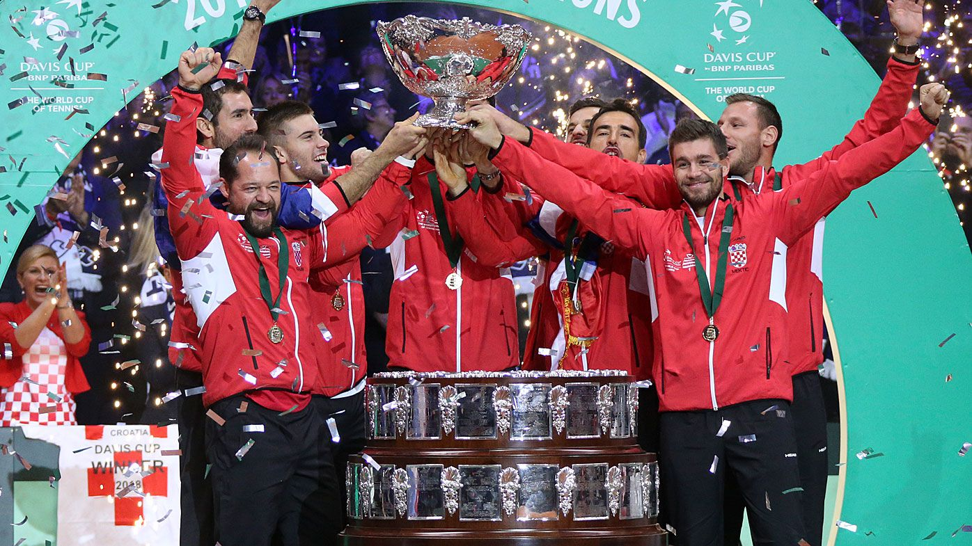 The 2018 Davis Cup champions, Croatia