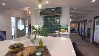 One of a kind Trista Mark renovation Kitchen after
