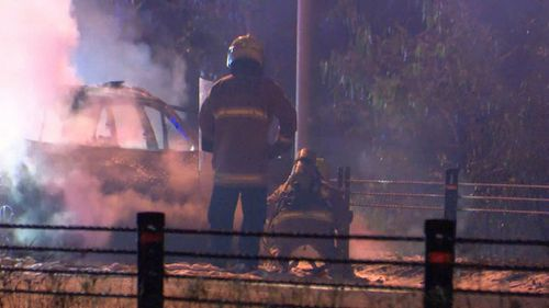 Fire & Rescue NSW attended the scene and extinguished the fire, which forced the closure of the M7 for roughly two hours. (9NEWS)