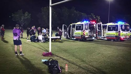 Laurence Crawley simply collapsed on the field. Picture: Supplied