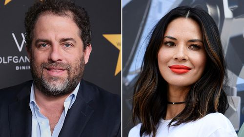 """Olivia Munn attends """"The Lego Ninjago Movie"""" photo op at Comic-Con International in San Diego in July; Brett Ratner arrives at the Wolfgang Puck's Post-Hollywood Walk of Fame Star Ceremony Celebration in Beverly Hills. (AAP)"""