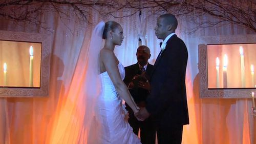 The couple didn't release any wedding photos at the time of their wedding in 2008. (YouTube)