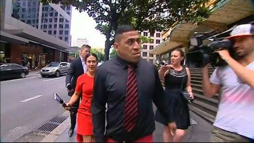John Hopoate lashes out at media outside court. (9NEWS)