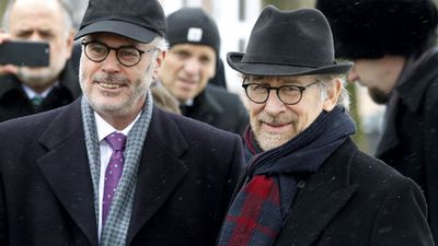 US director Steven Spielberg (right)  attended the ceremony.