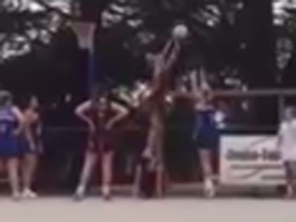 Amateur netballers laugh off controversial block