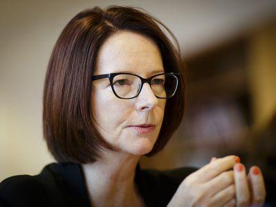 Julia Gillard pictured in 2018