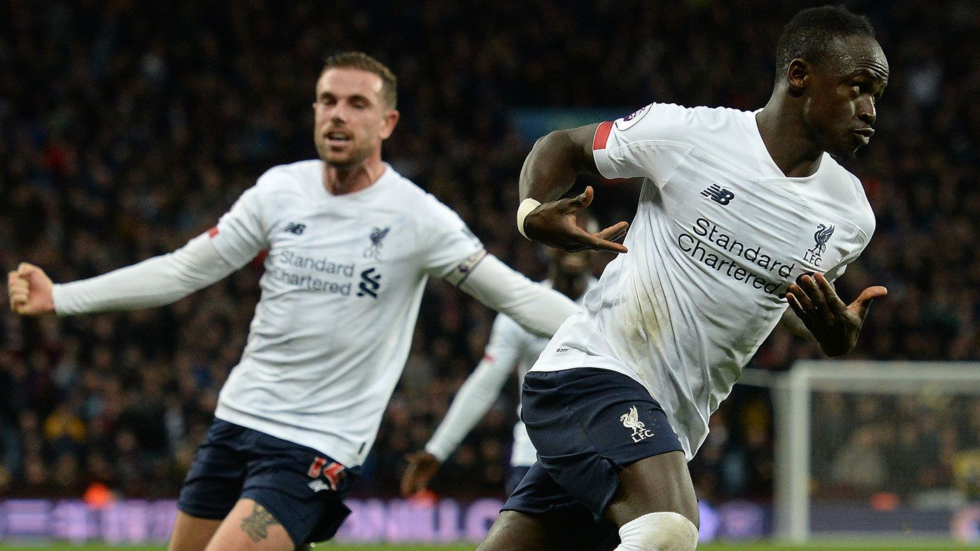 Liverpool snatch late win at Aston Villa, maintaining six-point EPL lead