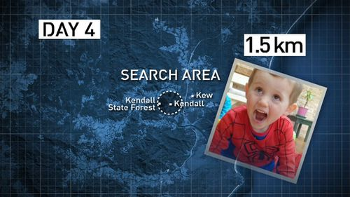 Search area reduced by day four. (9NEWS)