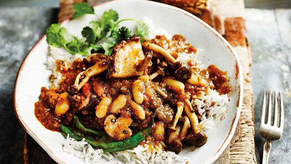 Mushroom and bean caldine