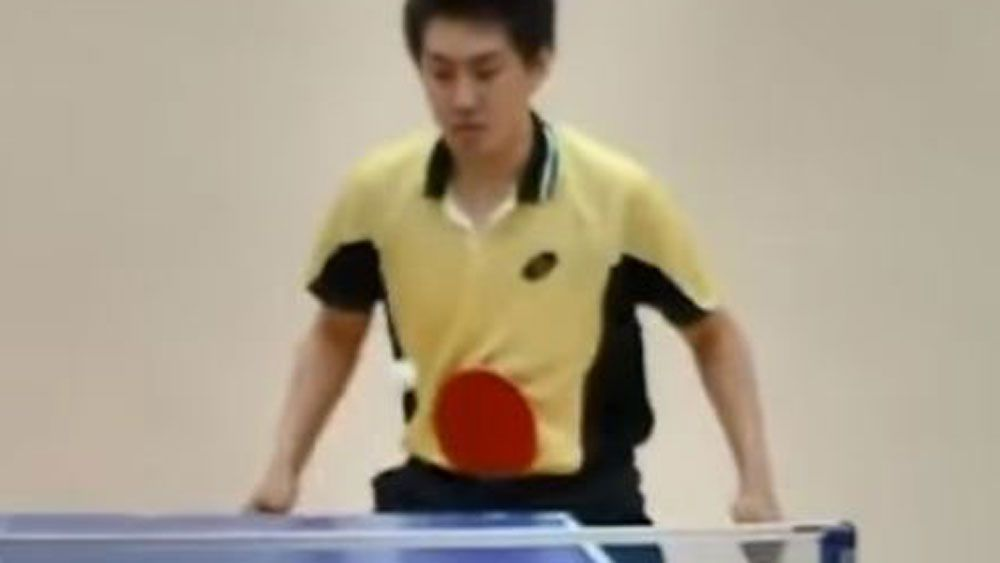 Table tennis trick shots, and a marriage proposal
