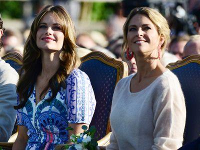Sweden's Princess Sofia and Princess Madeleine