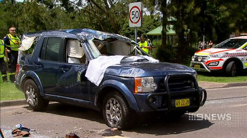 The car sustained major damage during the crash. (9NEWS)