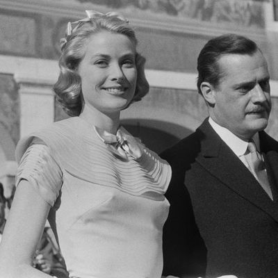 Grace Kelly following her civil wedding ceremony, 1956