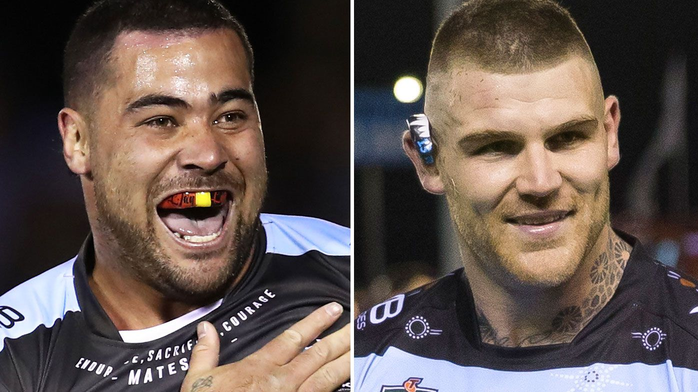 Andrew Fifita and Josh Dugan officially warned by Sharks over Rothfield sledge: report