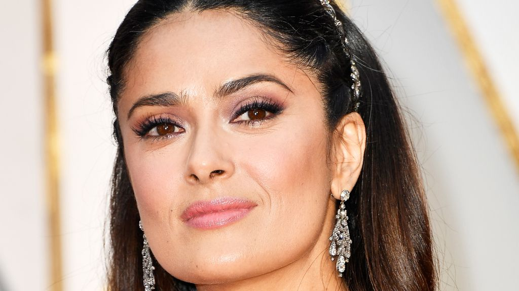 Salma Hayek's fruit-smoothie facials