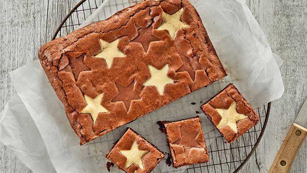 Chocolate star brownie