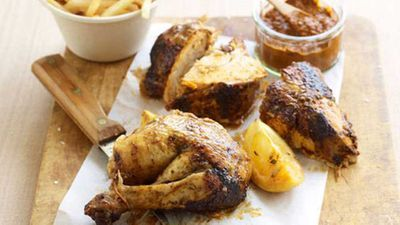 "Recipe: <a href=""http://kitchen.nine.com.au/2016/05/16/17/46/portuguesestyle-chicken"" target=""_top"">Portuguese-style chicken</a>"