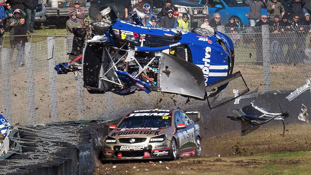 Todd Hazelwood has been involved in a terrifying crash at Sandown. (Getty)