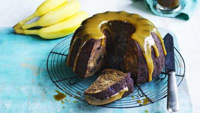 """Recipe: <a href=""""https://kitchen.nine.com.au/2017/09/22/11/48/sticky-date-and-banana-cake-with-salted-butterscotch-sauce"""" target=""""_top"""">Sticky date and banana cake with salted butterscotch sauce</a>"""