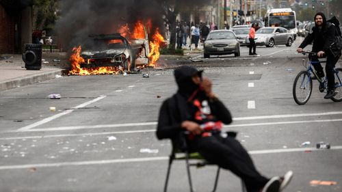 IN PICTURES: State of emergency declared as Baltimore rages following death in police custody (Gallery)