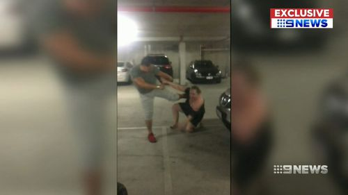 Emma Martin was allegedly kicked again while she was lying on the ground of her Southport apartment carpark.