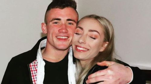 Liam Cahill with friend Macayla Dickson.