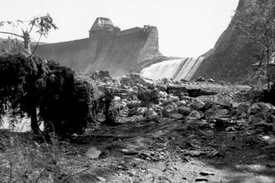 Möhne Reservoir in Germany, 1943
