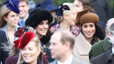 Kate and Meghan's friendship: Christmas Day, December 2017.