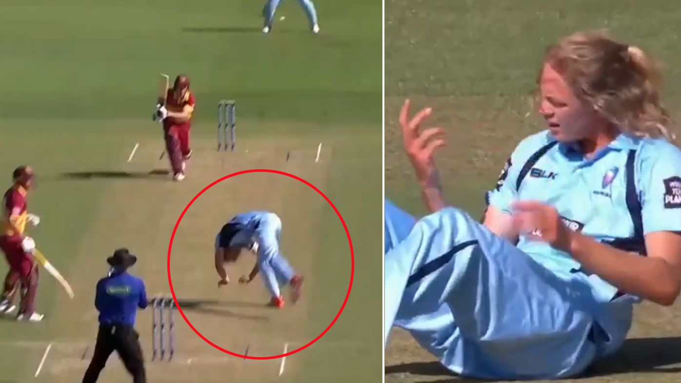 Mickey Edwards struck by cricket ball while bowling as Queensland beat NSW in One Day Cup opener