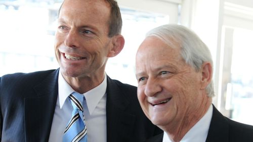 Tony Abbott with Phillip Ruddock in 2009. (AAP)