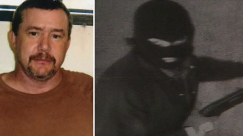 Brenden Abbott, the bank robber known as the Postcard Bandit, has been granted parole. (File images)