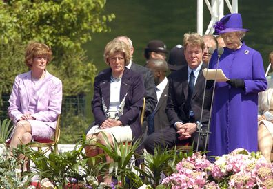 The Queen, Earl Spencer, Lady Sarah Mccorquodale and Lady Jane Fellowes Attends The Unveiling Of The Diana Princess Of Wales Memorial Fountain In London's Hyde Park.