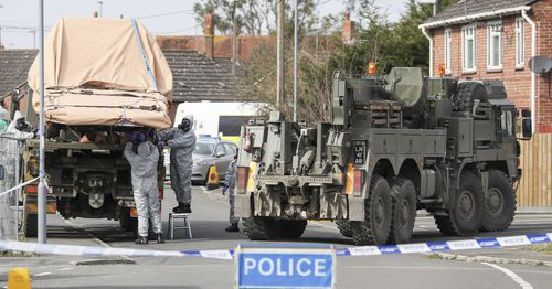 A police officer was contaminated at the scene and dozens of others required treatment. Picture: AAP
