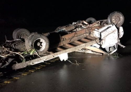 Vehicles have been flipped on their heads with roads across Jefferson City closed after a massive tornado ripped through the region overnight.