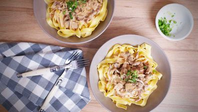 Classic, easy, creamy beef stroganoff - on of the most googled recipes