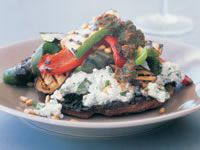 Grilled vegetable and ricotta stack