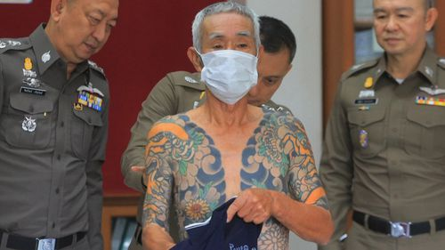 Seventy-four-year-old Shigeharu Shirai was on-the-run for 10 years for his alleged involvement in the killing of Kazuhiko Otobe while as a member of a Japanese gang (AP).
