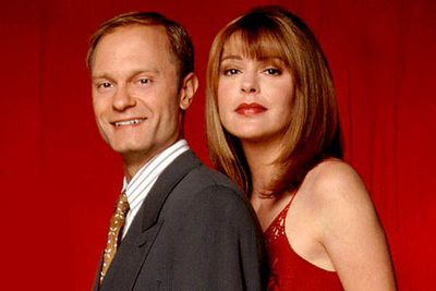 <B>The URST:</B> The sexual tension between Niles (David Hyde Pierce) and Daphne (Jane Leeves) ran for an entire decade. Though the two both pursued relationships with other people during the first six seasons, Niles' love for Daphne was clear, though mostly unrequited. Niles finally admitted his feelings, and the two got hitched towards the end of the series.