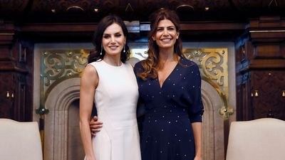 Queen Letizia looks glamorous as she meets Argentina's First Lady