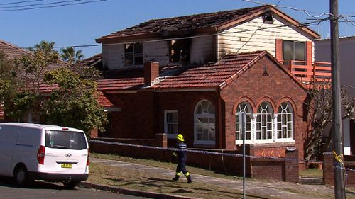 The 90-year-old died after the fire swept through his Sydney home.