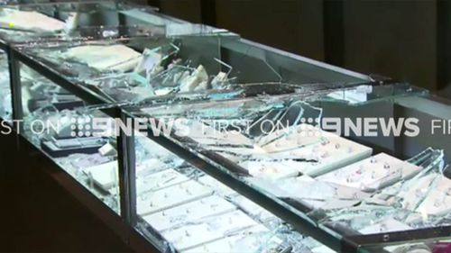 It is unknown how much jewellery has been stolen. (9NEWS)