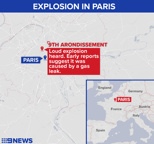 The explosion took place on Rue de Treviso the 9th Arrondissement of the French capital.