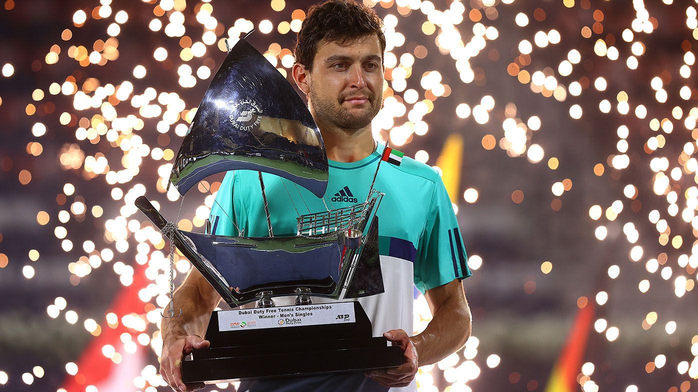 Aslan Karatsev beats Lloyd Harris in Dubai Championships final to win first ATP title