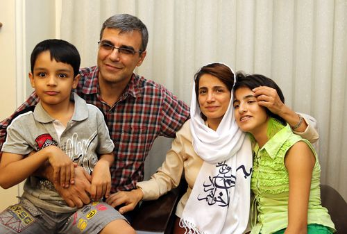 Nasrin Sotoudeh and her husband Reza Khandan have two children. She was previously jailed in 2010 for her work in Iran.