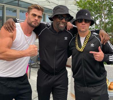 Chris Hemsworth, Idris Elba and Matt Damon were in attendance at the 80s bash.