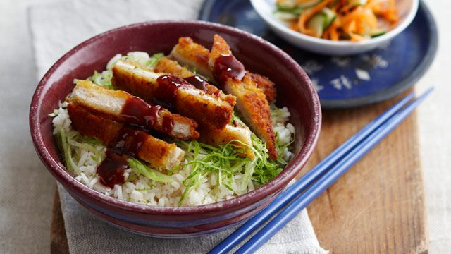 Chicken katsu bowl for $9.20